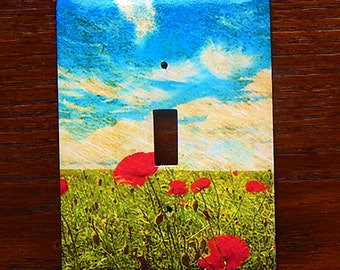 Field of Poppies Switchplate