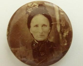 Antique Victorian Photo Pin Marked Pin-Lock Patd May 31, 98