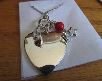 Shiny heart charm pendent