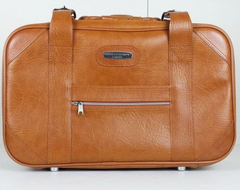 Vintage Knoxx Londonderry Brown Suitcase Carry On