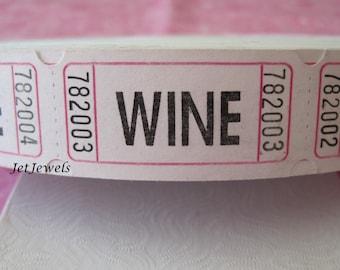 100 Drink Tickets, Wine Drink Ticket, Good for One Drink, Wedding Reception, Wine Wedding, Wine Tasting, Host Bar, Cocktail Party