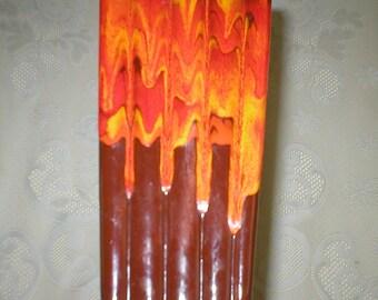 Drip Glaze Vase Lava Vase Vintage Flower Vase Art Vase Midcentury Modern