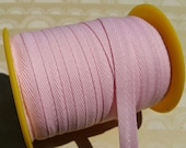 """Light Pink Twill Tape Trim - Sewing Bunting Shipping Packaging - 3/8"""" - 10 Yards"""
