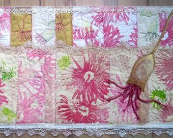 Eucalyptus Blooms ~ textile art
