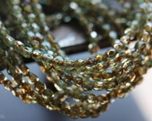 RIVER BITS .. 50 Premium Picasso Faceted Czech Glass Beads 3mm (4263-st)
