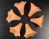CLEARANCE Acrylic Bead 6 Trumpet Flower Frosted Morning Glory Bugle Light Brown 23mm x 21mm (1018luc23-36)os