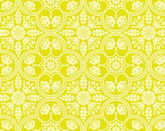 Joel Dewberry Fabric by the Yard - Notting Hill - Historic Tile in Citron - Quilter's Cotton