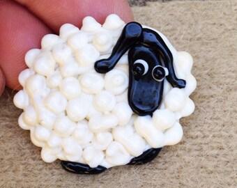 Adorable Sheep Pin Button
