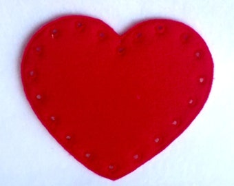 Heart lacing card - learn to sew - sewing game - educational learning toy -fine motor skills - hand eye coordination-  #3865