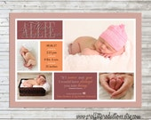 Baby's First Collage multiple photo layout birth announcement - digital file