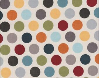 ADORNit Vintage Groove Polka Dot in Charcoal - Half Yard