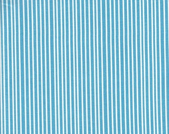 Andover Fabrics Lizzy House Hello Pilgrim Stripe in Bright Blue and White - Half Yard