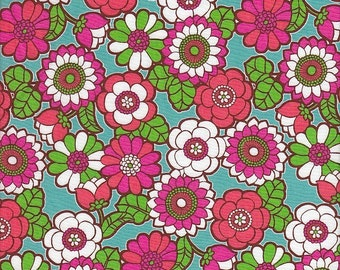 Anthology Fabrics Folk Life Groovy Flowers - Half Yard