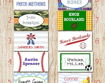 Back Pack Tags - Luggage Tags - Boy Tags - Bag Tags - Personalized Tags for Back to School