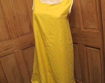 SALE - Golden Yellow A Line Tank Dress - S/M (4654)