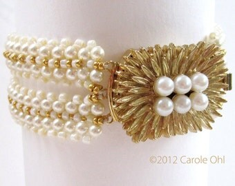 Mad About Pearls Bracelet Tutorial by Carole Ohl