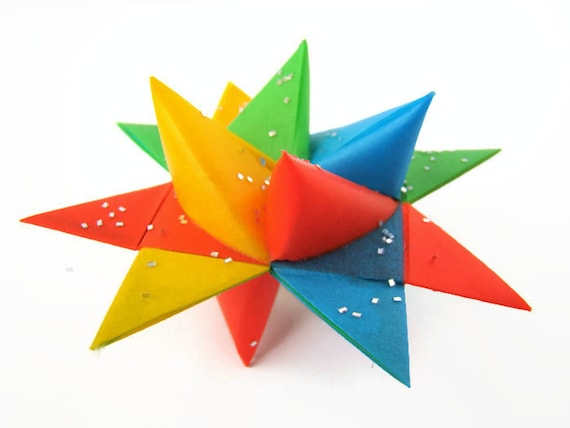 Moravian Stars - Four Color in Party Brights - Set of 2