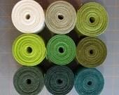 3.5 inch GREEN Burlap Ribbon - 3 yards