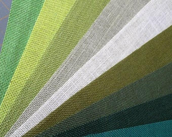 Kiwi Burlap Fabric By the Yard - 56 - 60 inches wide