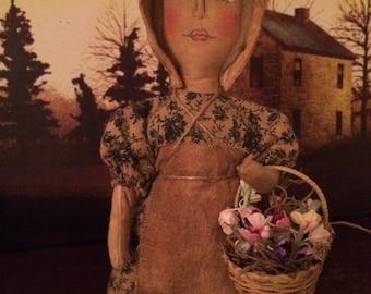 Primitive Little Stump Prairie Doll