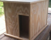 FREE SHIPPING - Large Kat Litter Kabinet - Unfinished - Litter & Odor Control - Dog and Child Proof - Plant Stand, TV Stand