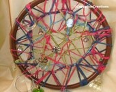 String art mediation mandala dream catcher inspired weird fine art hanging luck themed art