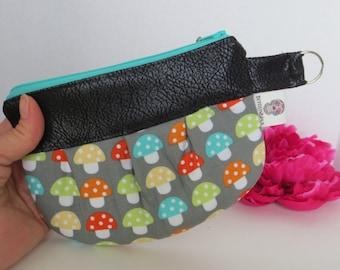 Mushroom Toke Bag - Mushroom Pouch - Colorado made - Mushroom zip pouch