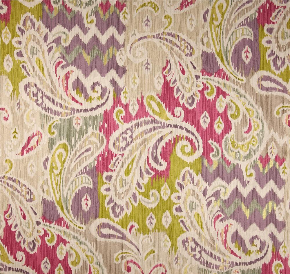 Bright Ikat Window Curtains Pink Paisley By Asmushomeinteriors