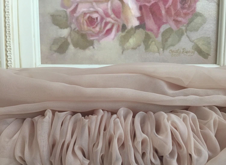 sheer latte organza chandelier cover latte cord cover. Black Bedroom Furniture Sets. Home Design Ideas