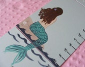 Foldable Children's Growth Chart, Mermaid