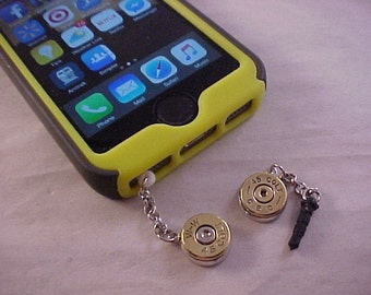 Cell Phone Bullet Charm Dust Plug