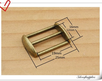 5/8 inch (inner size) 15 mm Antique Bronze  rectangle cap sliders strap adjuster 25pcs U149