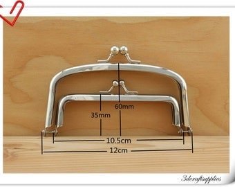 5 inch  nickel double purse frame C23