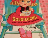 SALE Vintage Goldilocks and the Three Bears Paper Doll Book Uncut 1970's