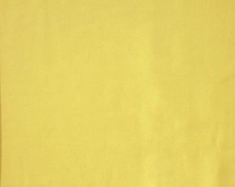 Yellow Cotton Fabric by Makower, Plain Yellow Cotton Fabric for patchwork and crafts