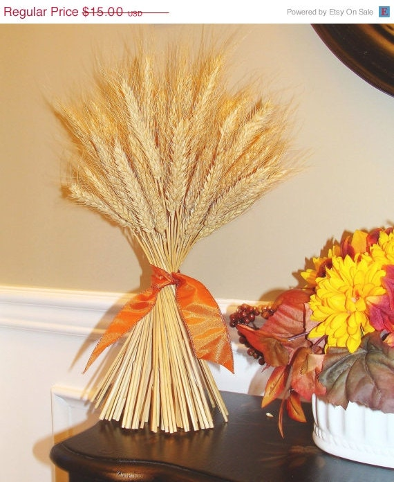Wreath sale wheat sheaf fall decor thanksgiving by