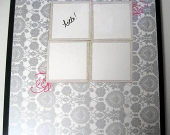 Window . Magnet Dry Erase Steel Memo Board / Office Decor / Organization / Housewarming Gift / Desk Accessories / Message Bulletin Baord