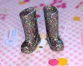 Blythe Multi Glitter Doll Gumboots