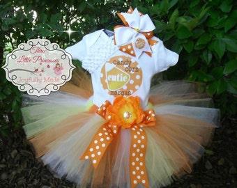 Candy Corn Cutie Personalized Tutu Outfit
