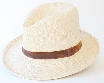 Straw Fedora Hat Men's Accessories Spring Fashion Summer Hat Men's Straw Hat Open Crown Fedora Hat Custom Straw Hat Optimo Hat