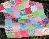 Lap Quilt  Or Modern Baby Quilt In Tula Pink