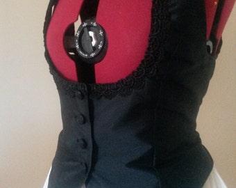 Ladies Waistcoat, Underbust, steampunk waistcoat, corset back, lacing, Victorian style, Goth waistcoat, customisable