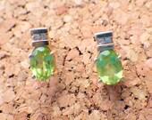 Lovely Citrine/Diamond Earrings - 14k Gold