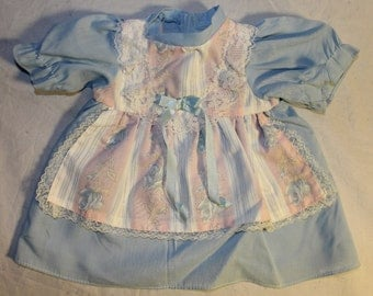 Vintage Dress for a Baby Doll or for a Newborn, 1970's Era