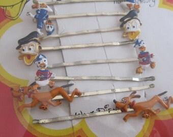 vintage barrette Donald duck, Pluto,