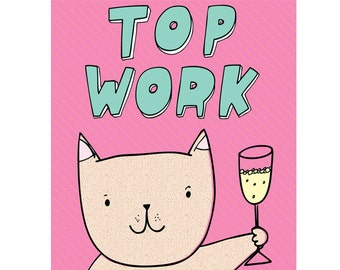 Congratulations Card - Top Work