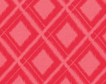 Simply Color Ikat Diamonds Hot Pink 10806-14 One Yard