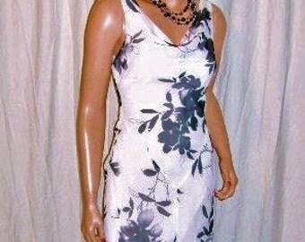 Vintage Studio Y Black White Floral maxi Dress 3