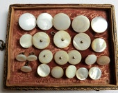 23 Antique Mother of Pearl Buttons Some Matching Sets Varied Sizes