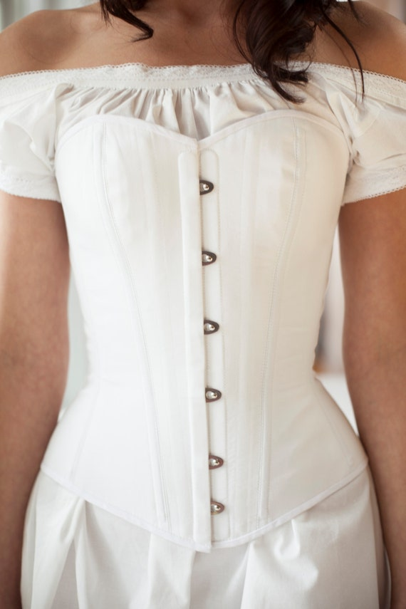 Victorian Style Corsets- Custom, Costume & Patterns Victorian Corset cotton Civil War 1800s 1860s 1870s 1880s 1890s Historical Undepinning in custom size $330.00 AT vintagedancer.com